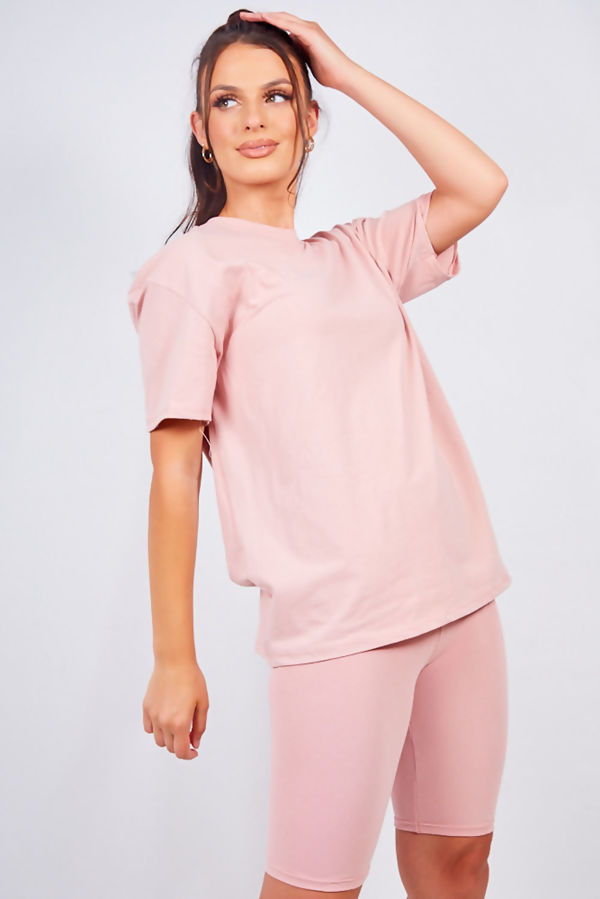 Dusty T-shirt and Cycling Shorts Set