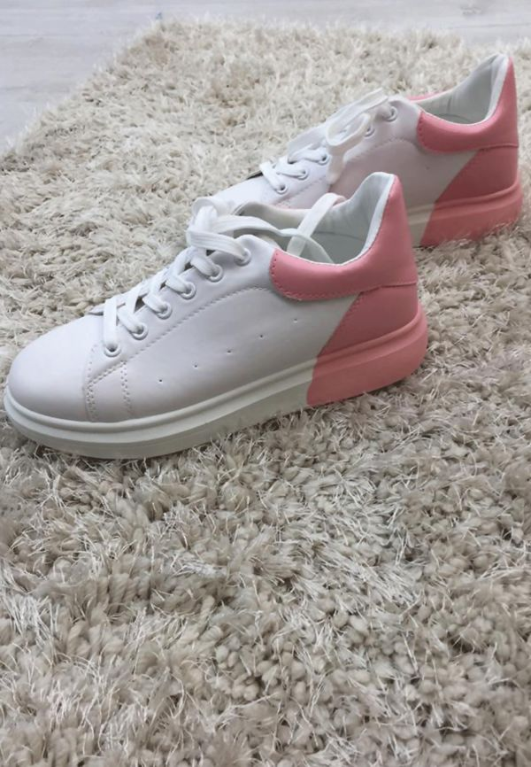 Dusty with White Two Tone Trainers