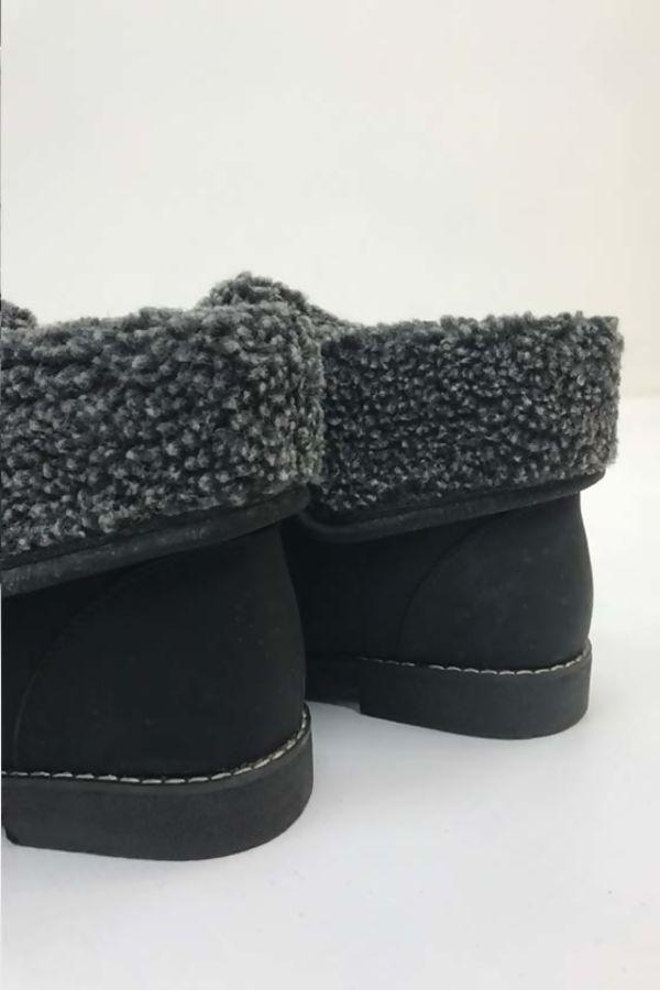 Black Burg Fur Boots