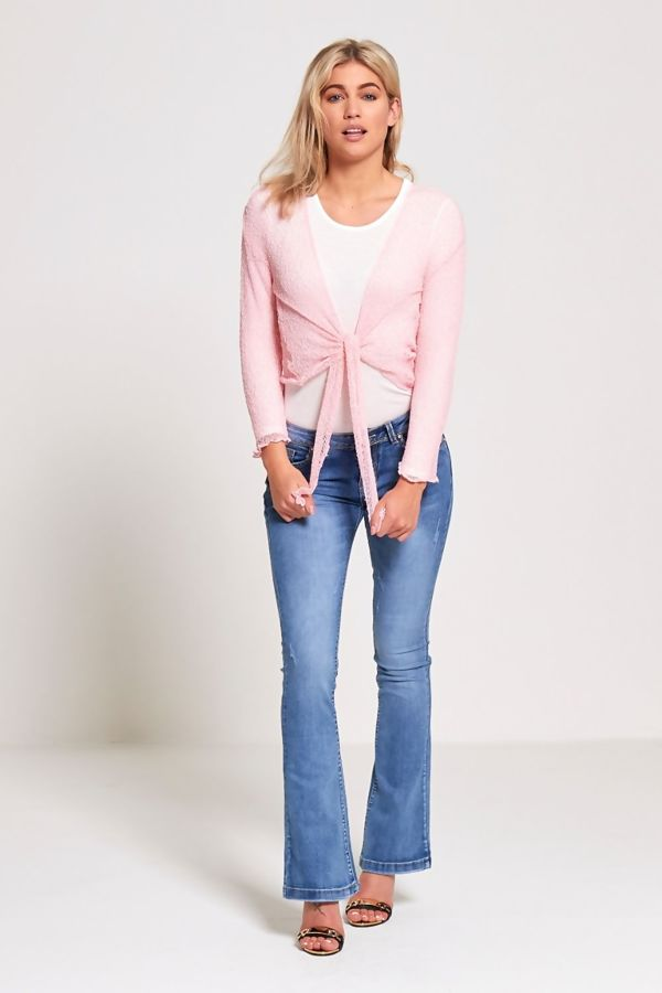 Dusty Knotted Tie-Up Shrug
