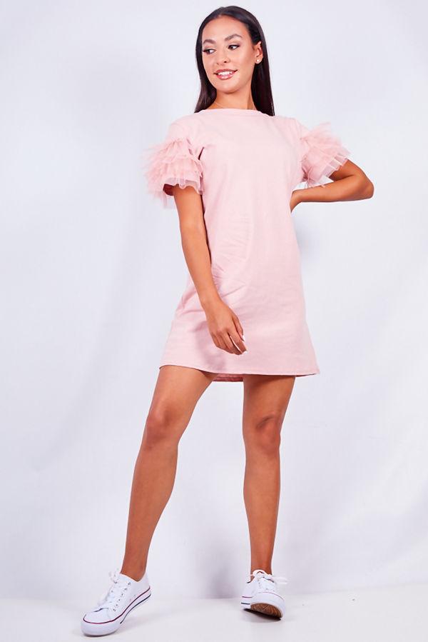 Dusty Tull Sleeve T-shirt Dress