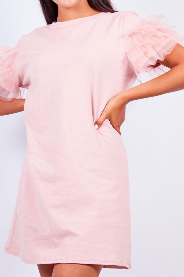 Tull Sleeve T-shirt Dress