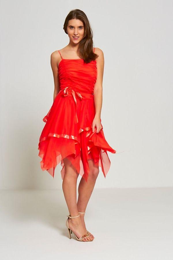 Teal Evening Prom Midi Dress