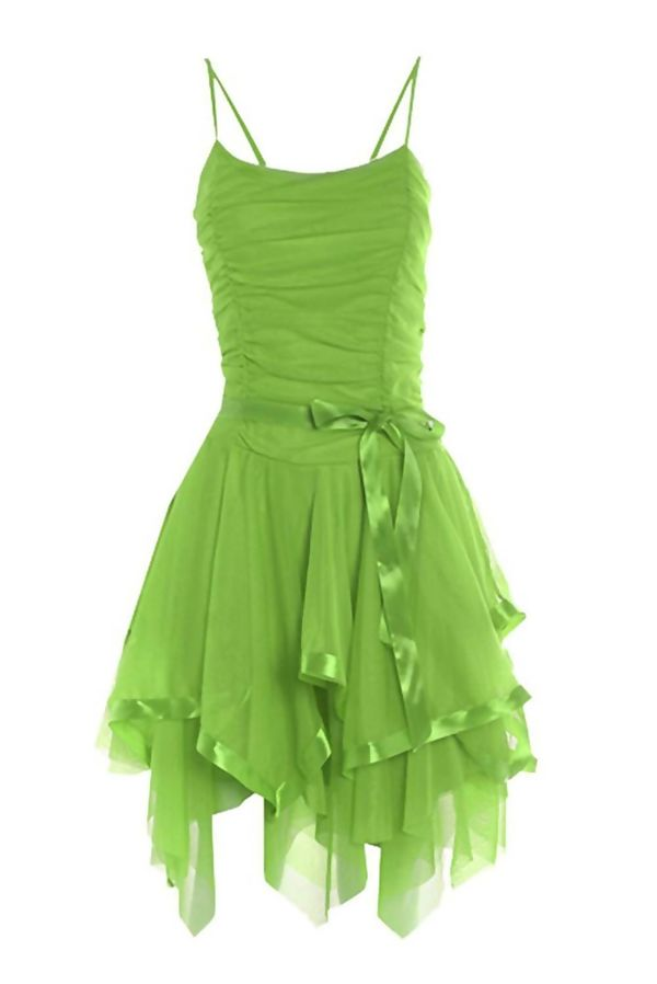 Apple Green Evening Prom Midi Dress