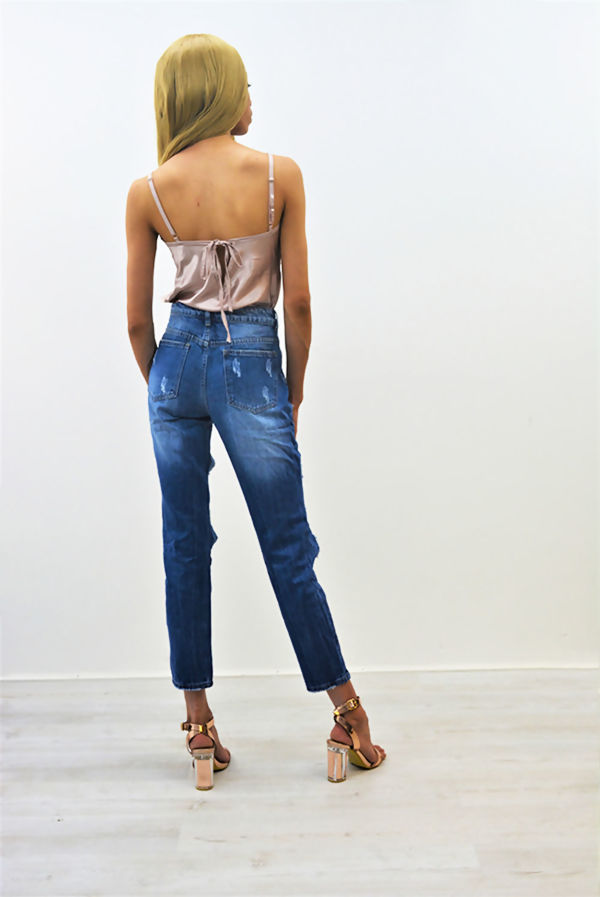 Extreme Cut Out High Waist Mom Jeans