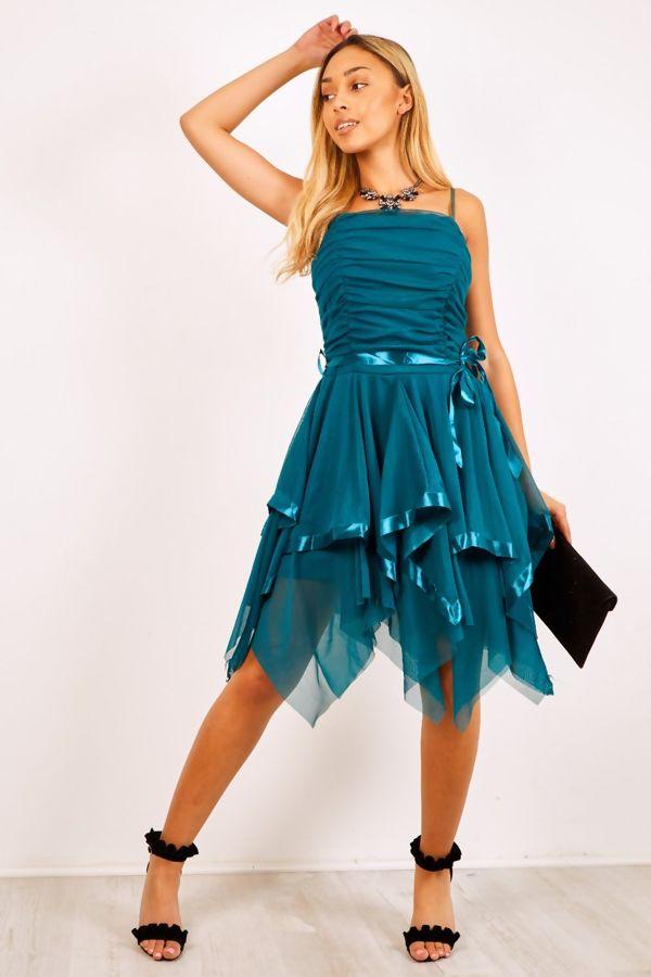Cream Evening Prom Midi Dress