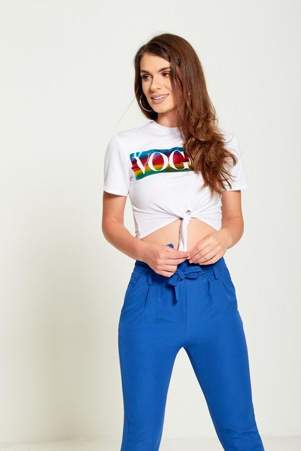 Multi Vogue Crop Tie T-Top