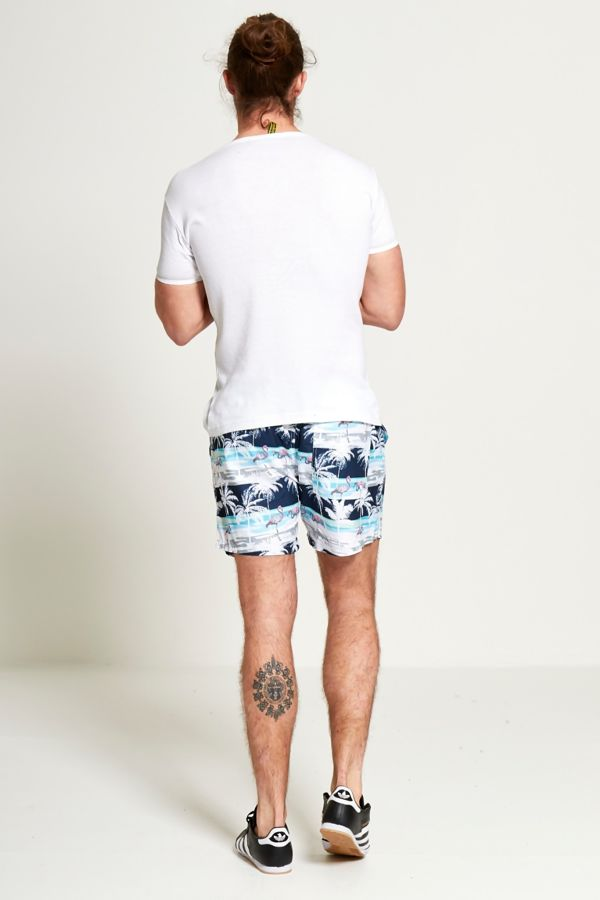 Palm Print Summer Swim Short