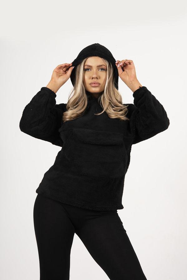 Black Borg Pullover Hoodie