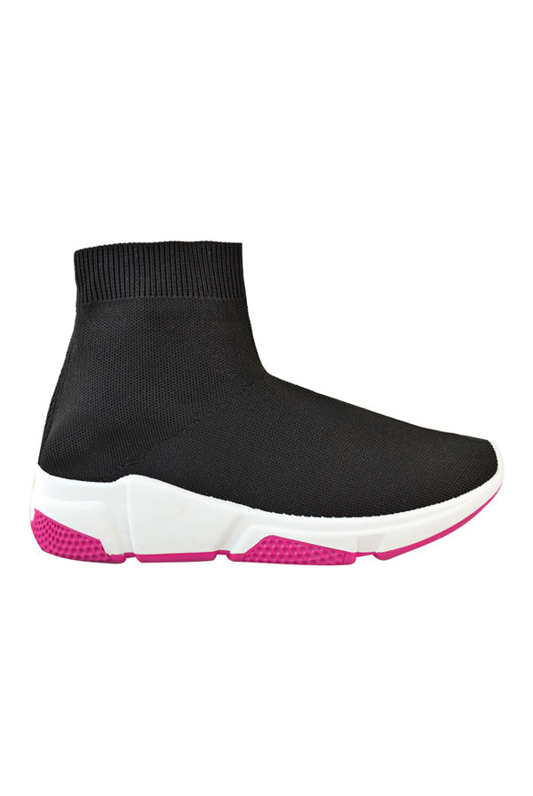 Fuchsia High Top Runner Sock Trainer