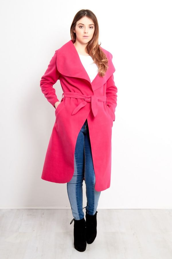 Wholesale Red Long Waterfall Duster Coat