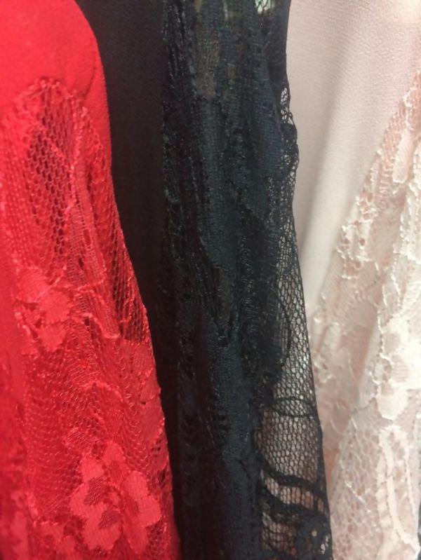 Flounce Lace Shift Dress Mix
