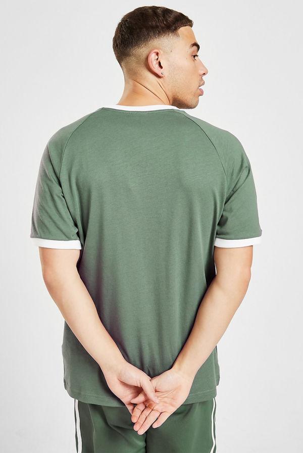 Green Adidas 3-Stripes Short Sleeves T-Shirt