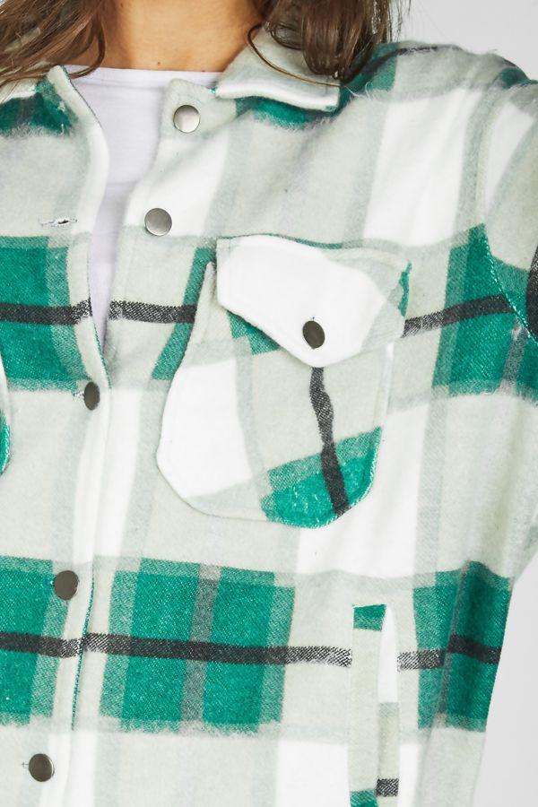 Green Checked Shacket