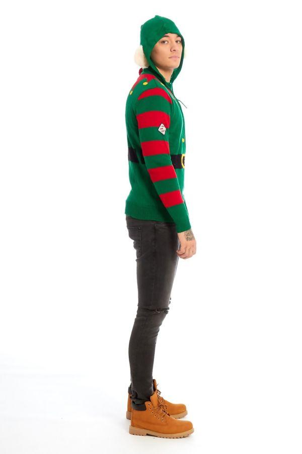 Green Elf Body Christmas Jumper