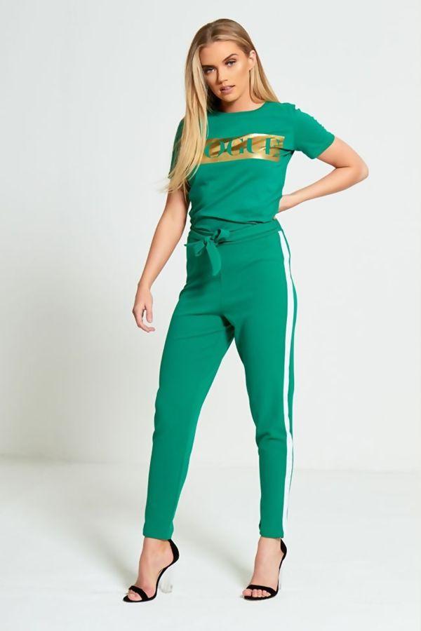 Green Glitter Vogue T-Shirt