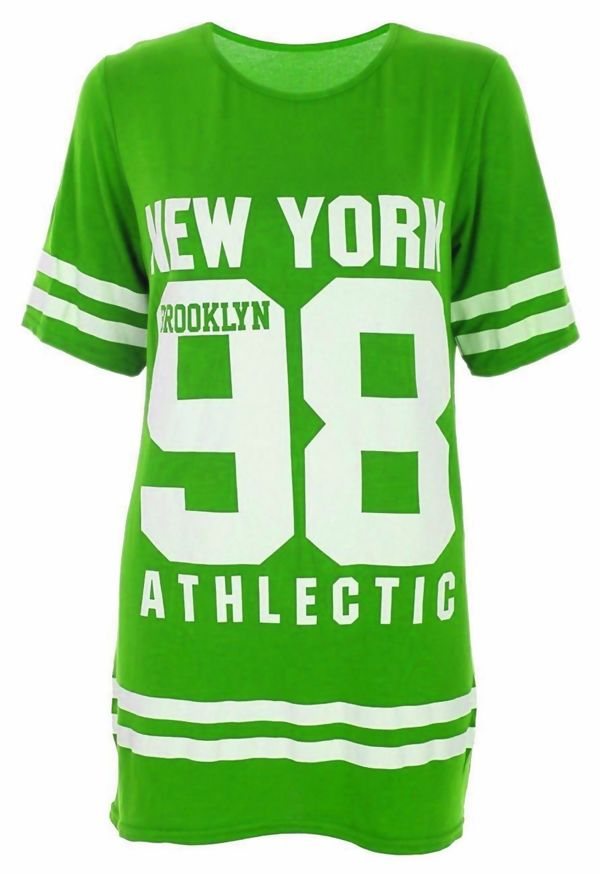 Green New York 98 Oversize T-Shirt