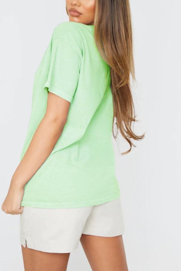 Green Smiley Printed T Shirt