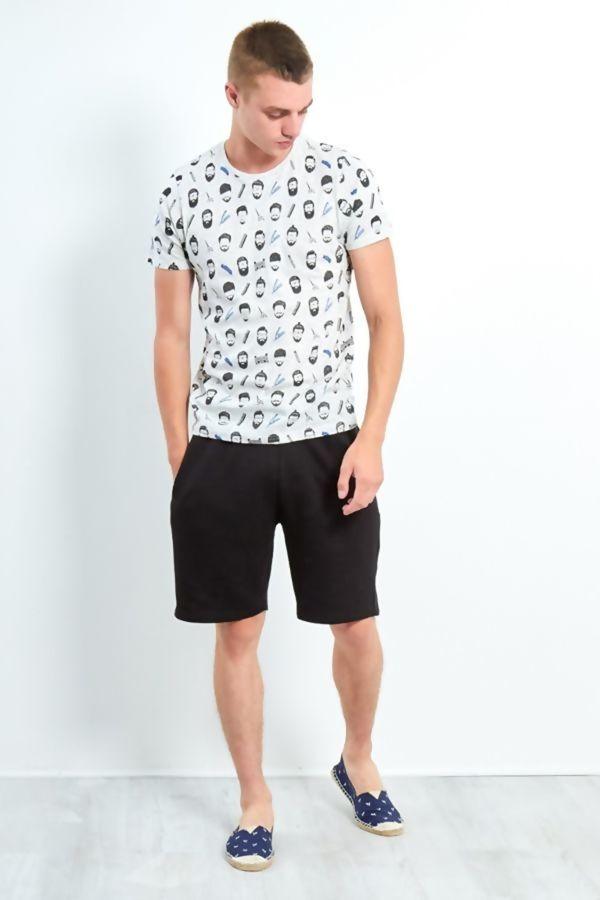 Grey Barber Printed T-Shirt