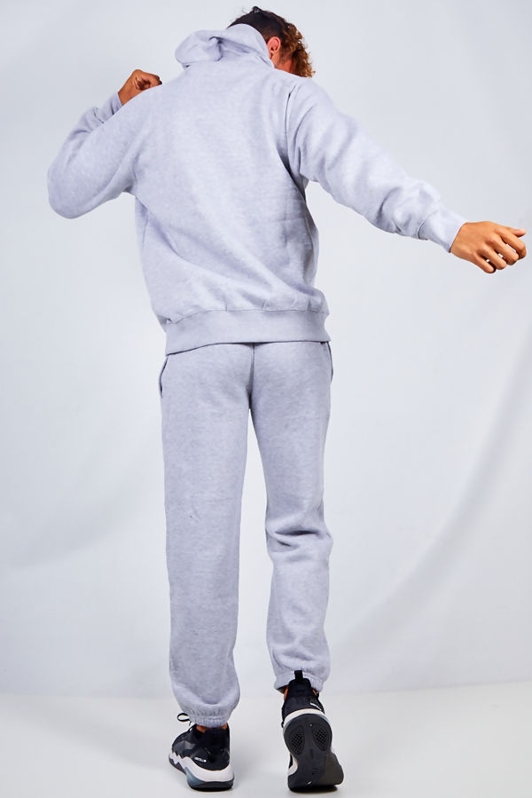 Grey Basic Pullover Hood Tracksuit