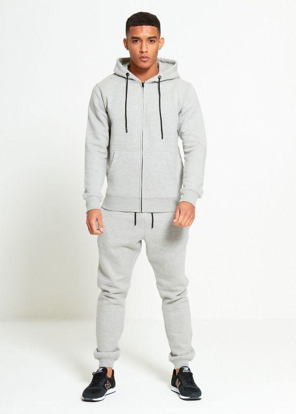 Grey Block Hooded Tracksuit