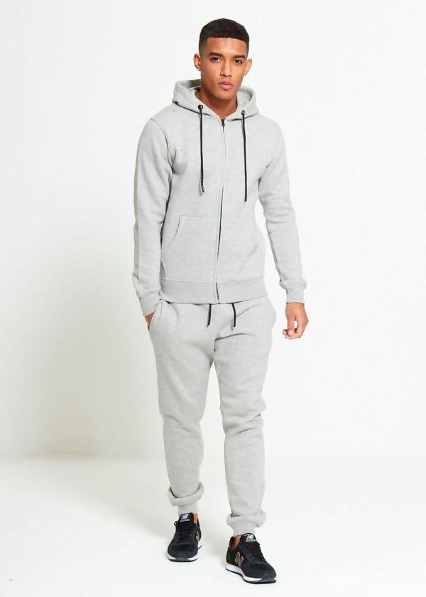 Grey Block Hooded Tracksuit Preorder