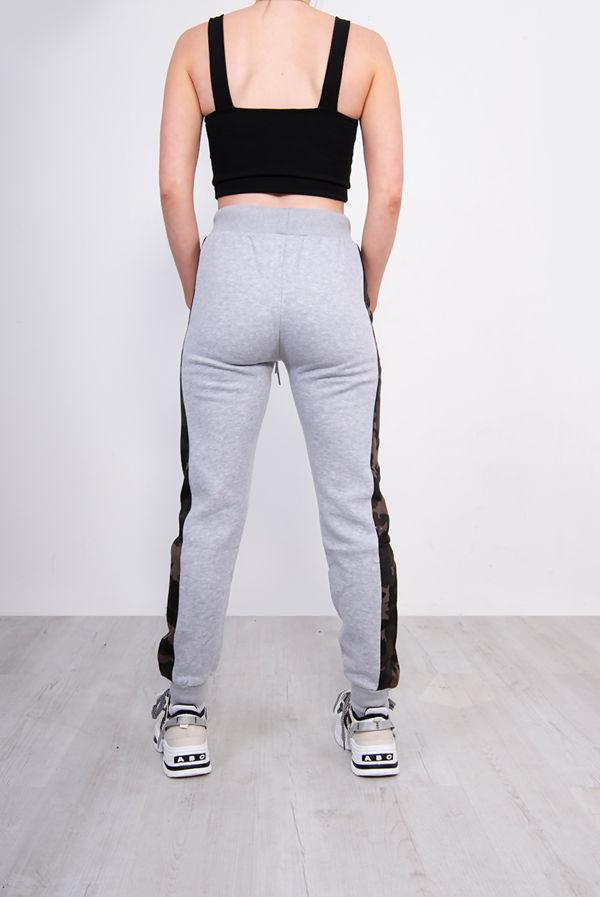 Grey Camo Side Stripe Joggers