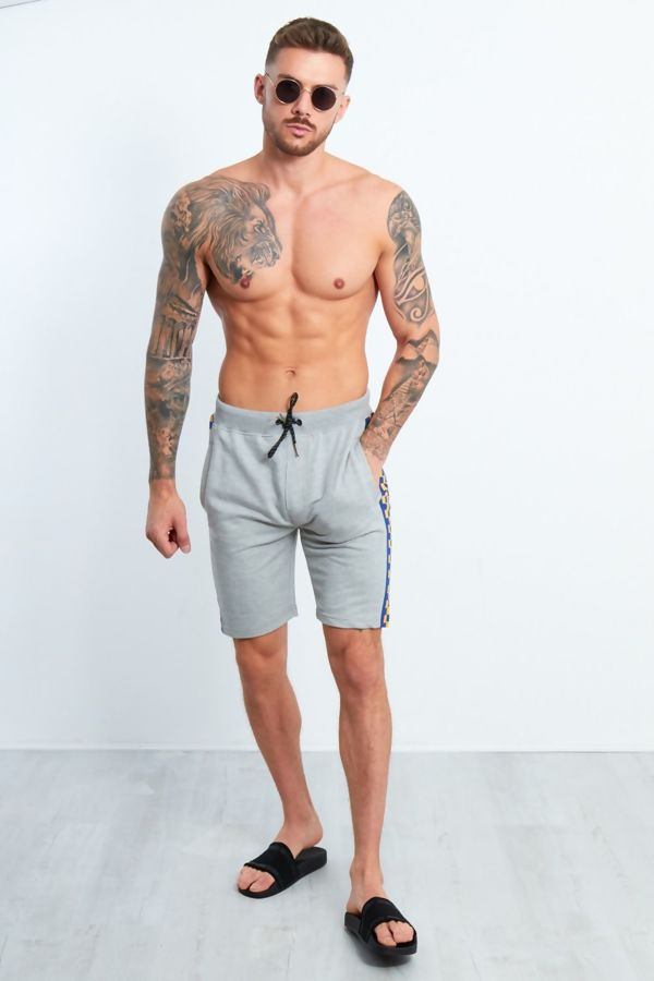 Grey Dominion Panel Jersey Shorts