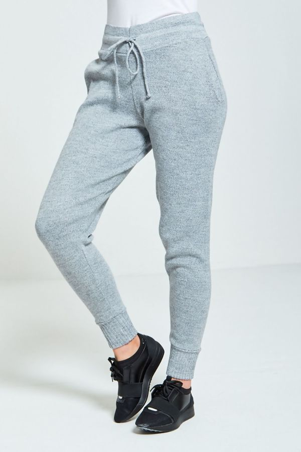 Grey Fine Knitted Loungewear Bottom