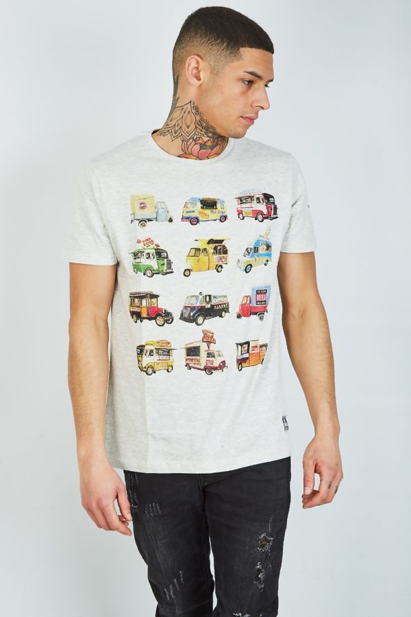 Grey Food Feast Printed T-Shirt