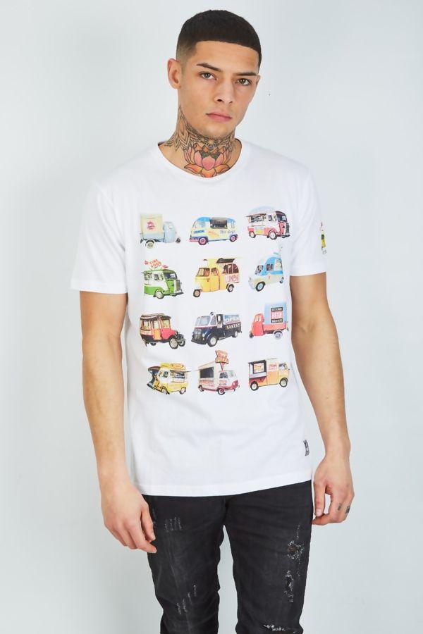 Grey Food Feast Printed T-Shirt