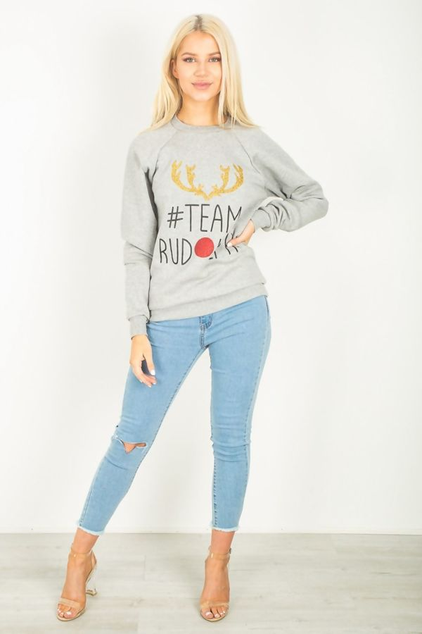 Grey Team Rudolph Sweat Shirt