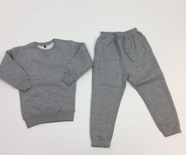 Grey Fleece Crew Neck Tracksuit