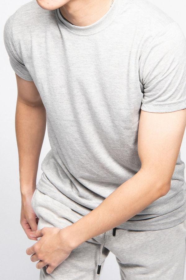 Grey Muscle Fit Zip Pocket Shorts Set