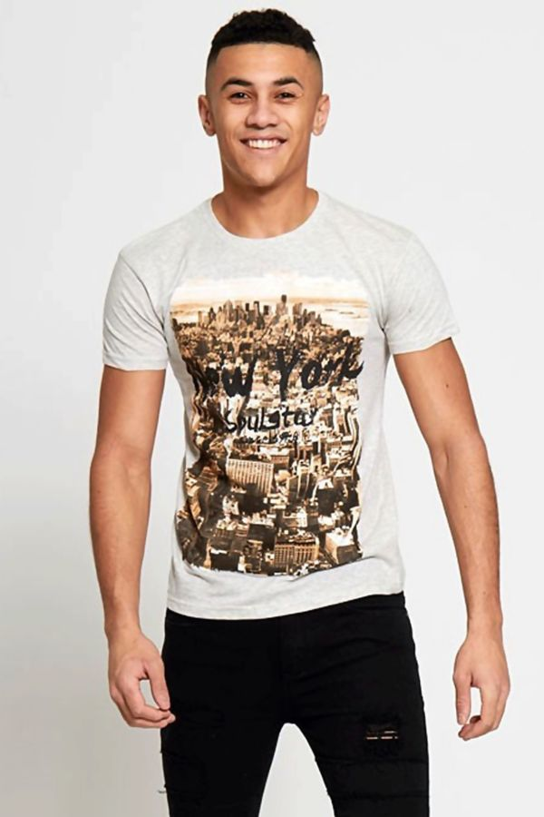 Grey New York City Printed T-shirt