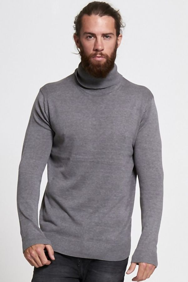 Grey Polo Neck Jumper