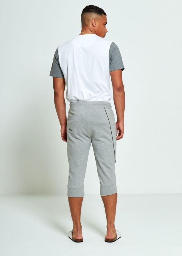 Grey Quarter Sweat Jogging Bottom