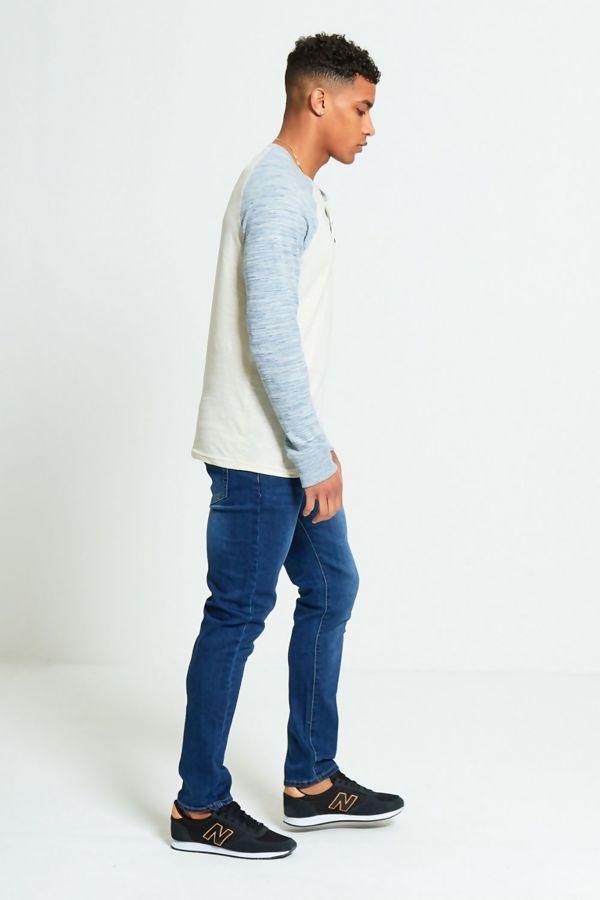 Grey Raglan Space Dye T-Shirt