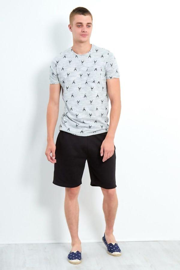 Grey Scorpio Crew T-Shirt