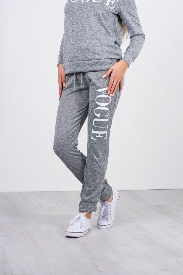 Grey Vogue Hood Tracksuit