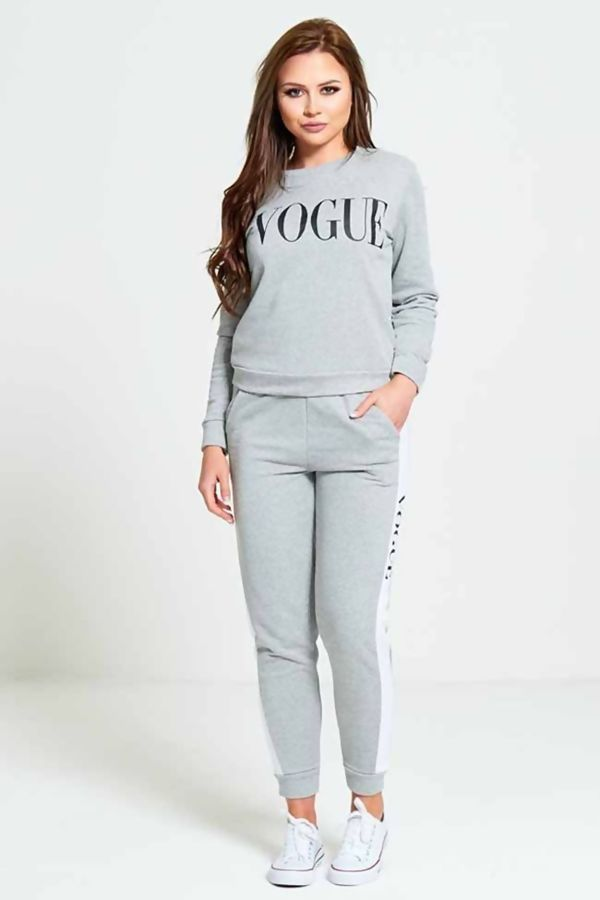 Grey VOGUE Print Tracksuit