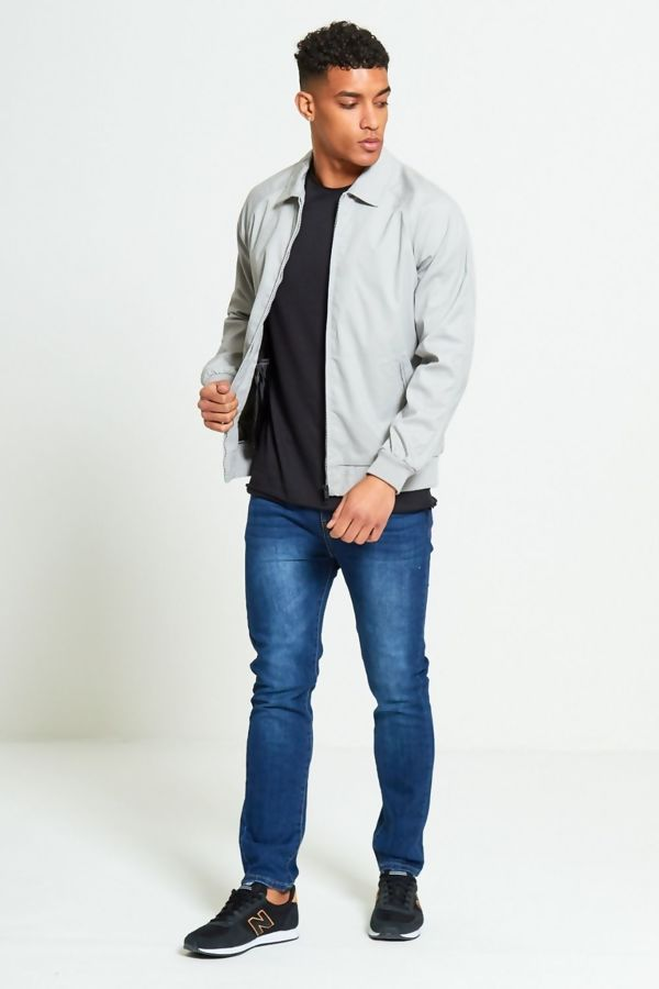 Grey Zip Through Light Weight Jacket