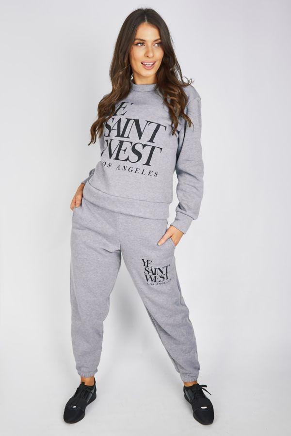 Grey Saint West Jogger Suit