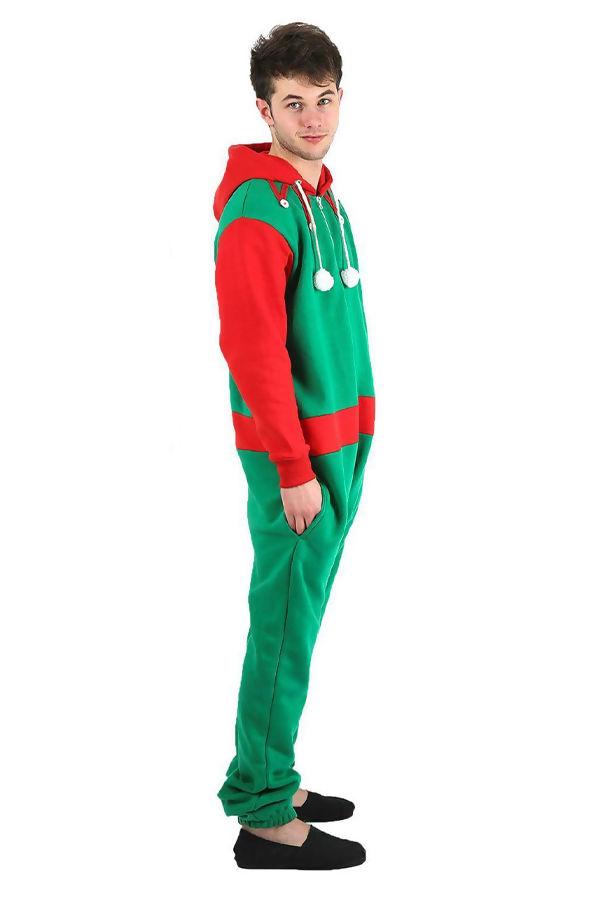 Green Unisex Novelty Elf Christmas Onesie