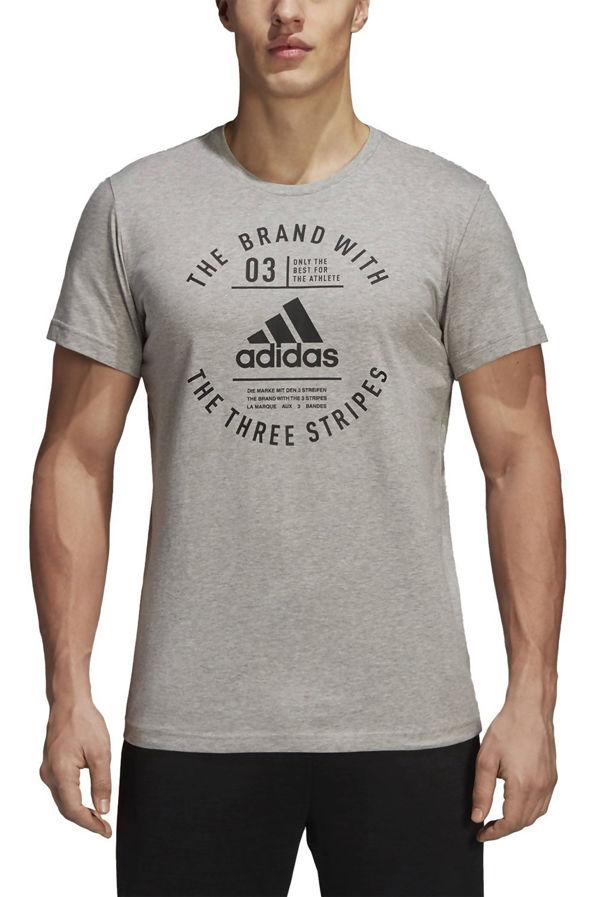 Grey Adidas Emblem Tee