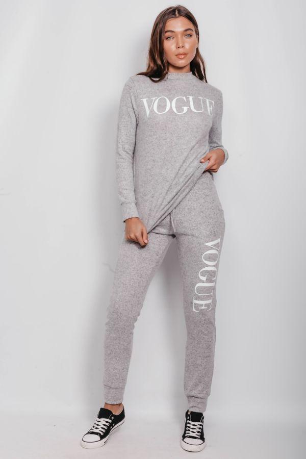 Grey Back To Basic Vogue Skinny Tracksuit
