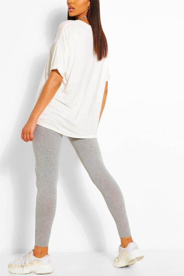 Grey Basic Seamless Leggings