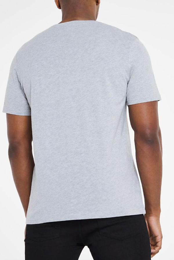 Grey Classic V-Neck T-Shirt