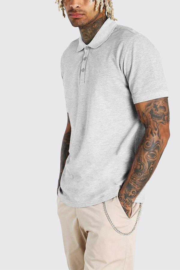 Grey Essential Polo Shirt