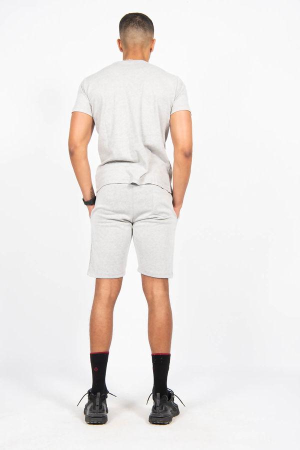 Grey Pintuck T-shirt And Shorts Set